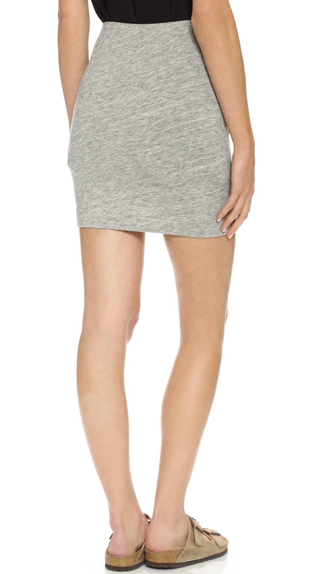 Iro Louisa Miniskirt - Light Grey in Gray | Lyst