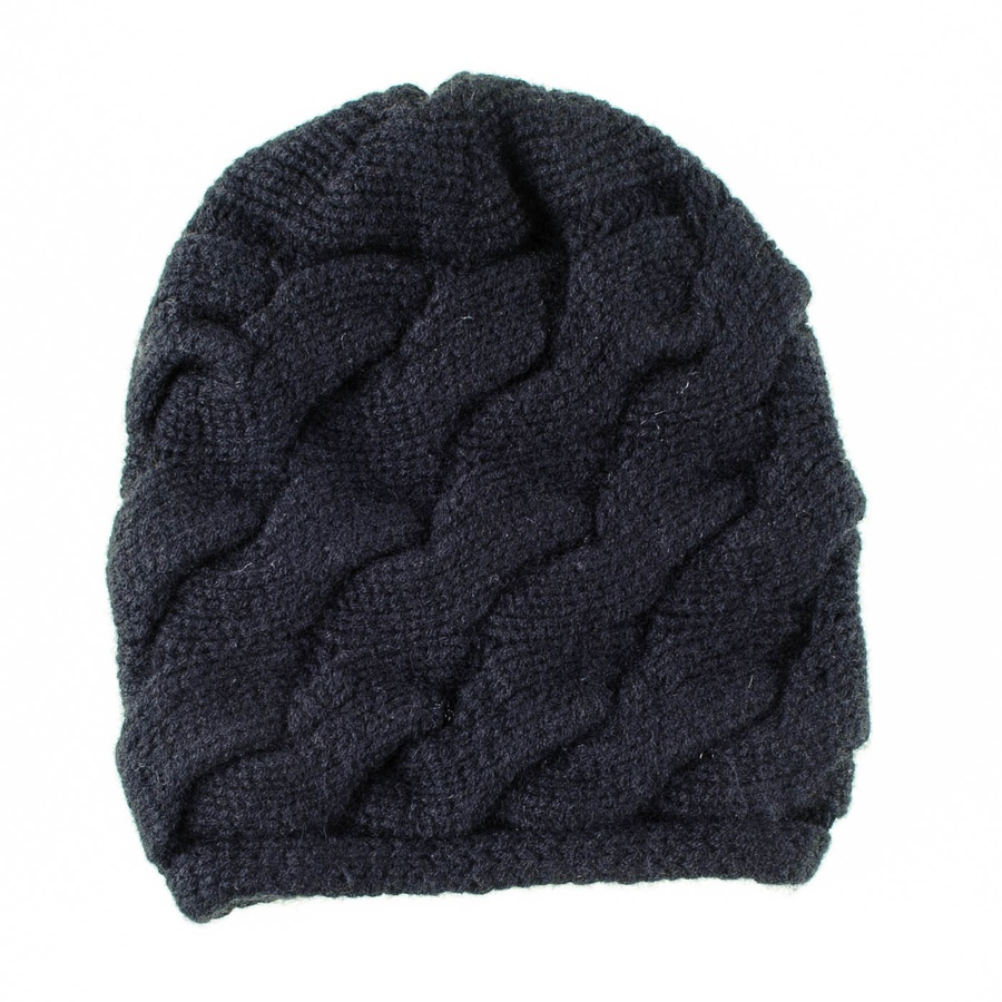 Black.co.uk Black Cable Knit Cashmere Beanie in Black for ...