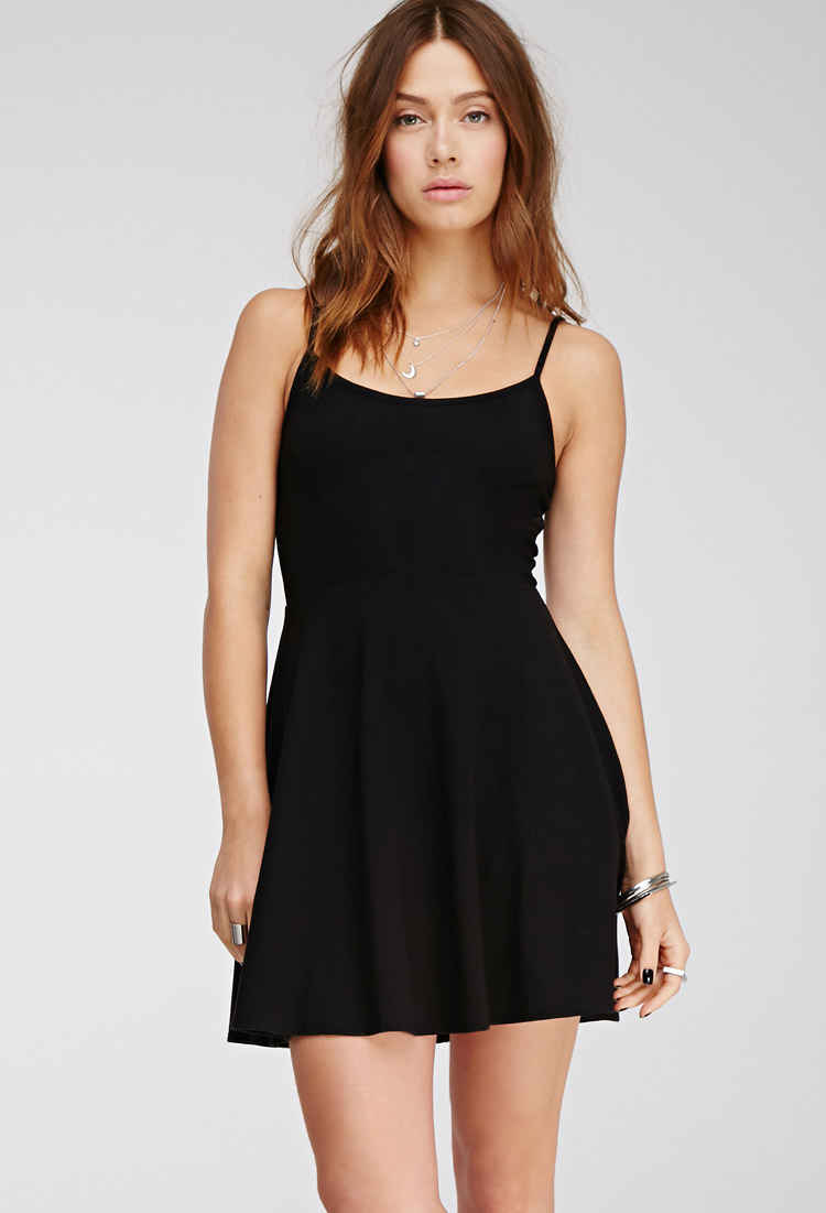 Lyst - Forever 21 Fit   Flare Cami Dress in Black 92e3bec3f