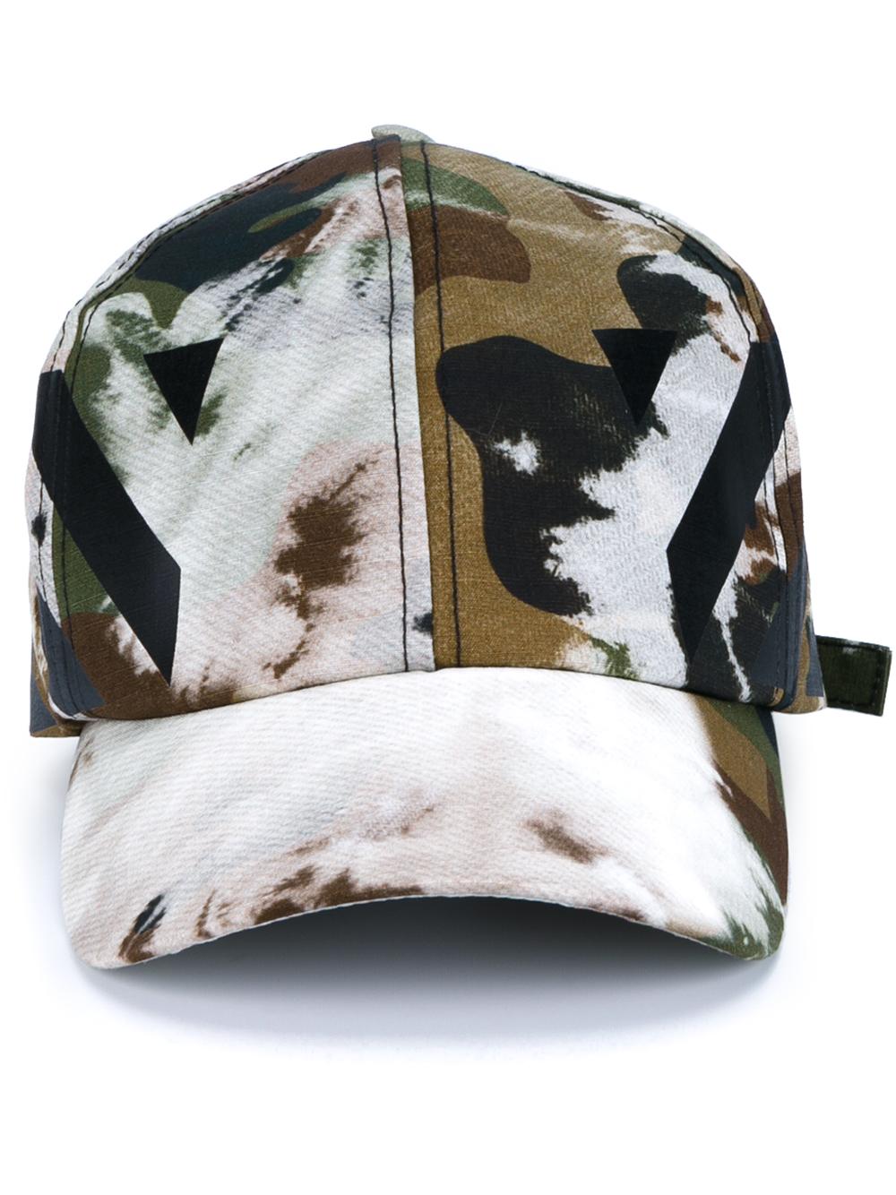Off White C O Virgil Abloh Camouflage Baseball Cap In