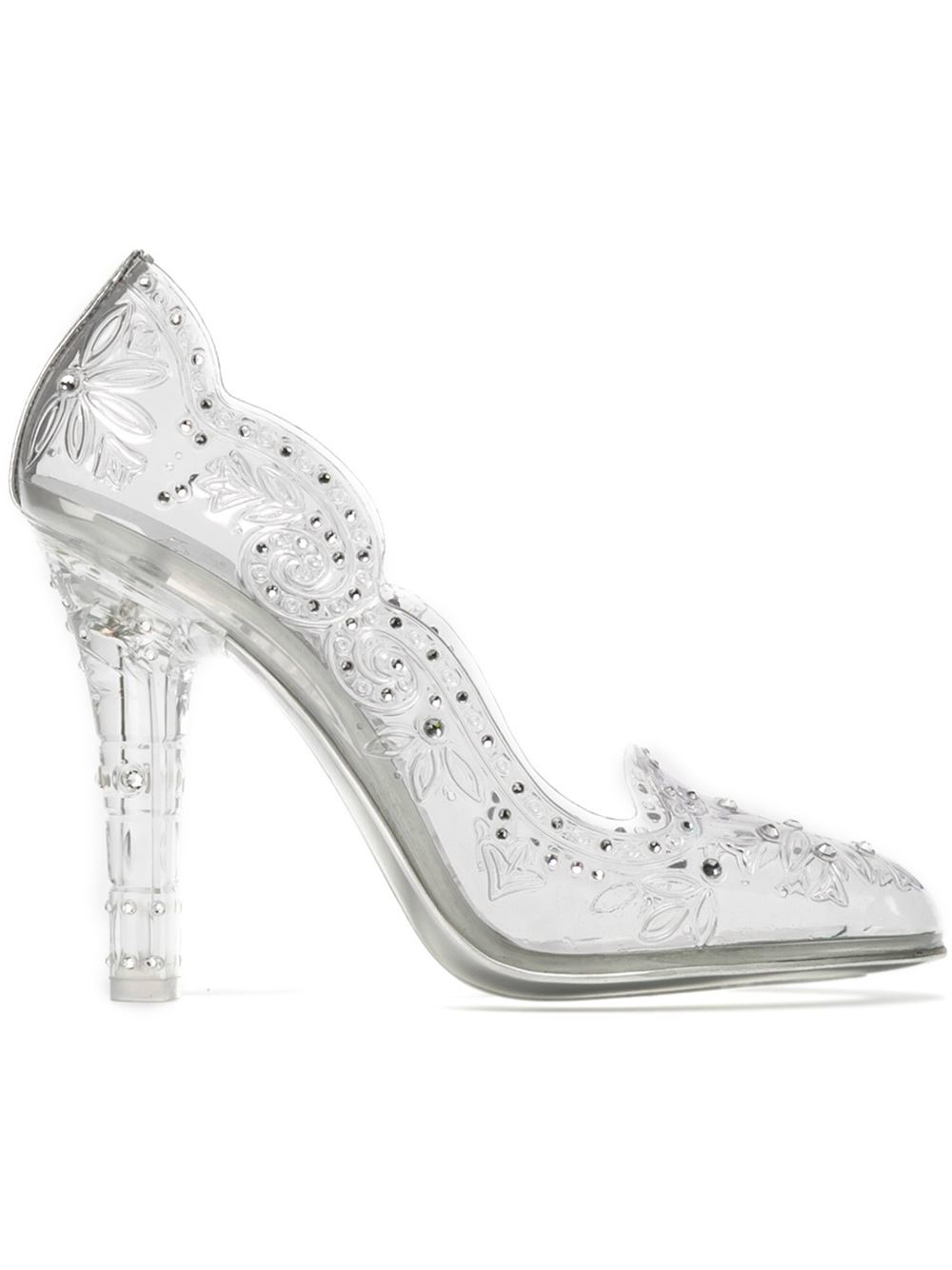 cdd47a58946 Lyst - Dolce   Gabbana Embellished Clear Pumps in White