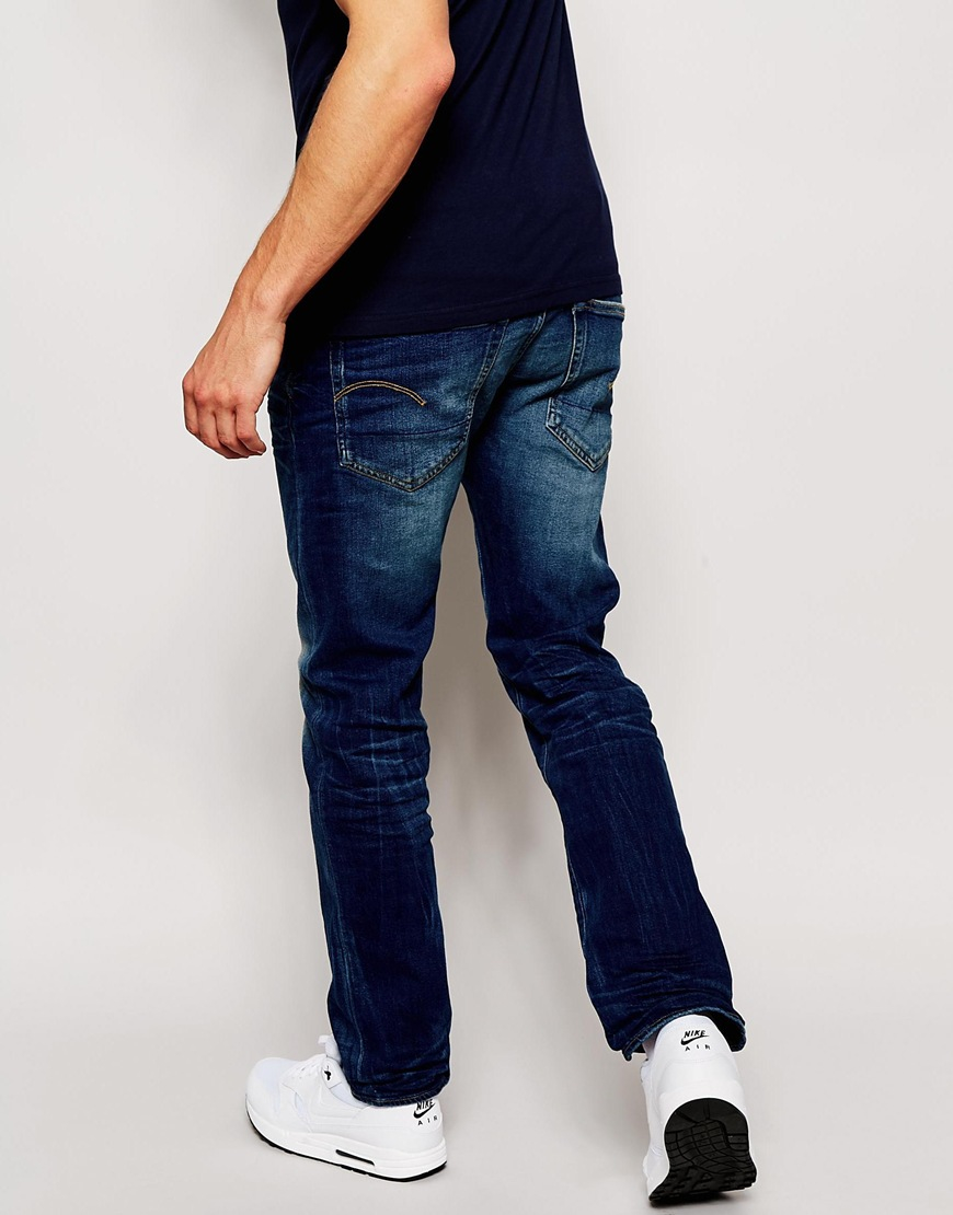 f458bbc39ba47 Lyst - G-Star Raw Jeans 3301 Straight Fit Vant Stretch Dark Vintage Aged in  Blue for Men