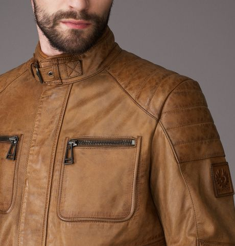 belstaff weybridge jacket in brown for men cognac lyst. Black Bedroom Furniture Sets. Home Design Ideas