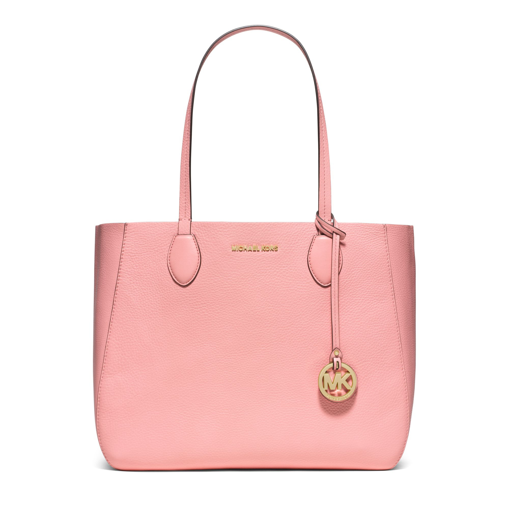 Michael Kors Pink Mae Soft Leather Carryall Tote Lyst