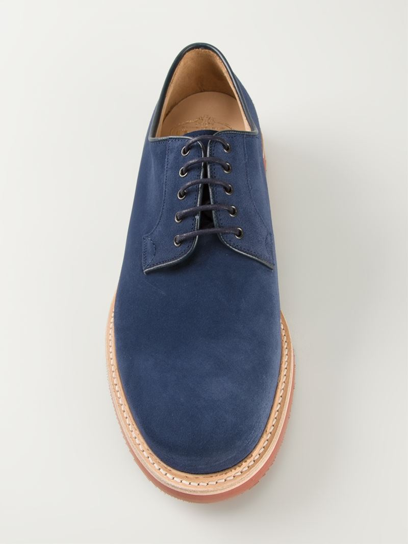 20fccab55653c Church's Fulbeck Lace-Up Shoes in Blue for Men - Lyst