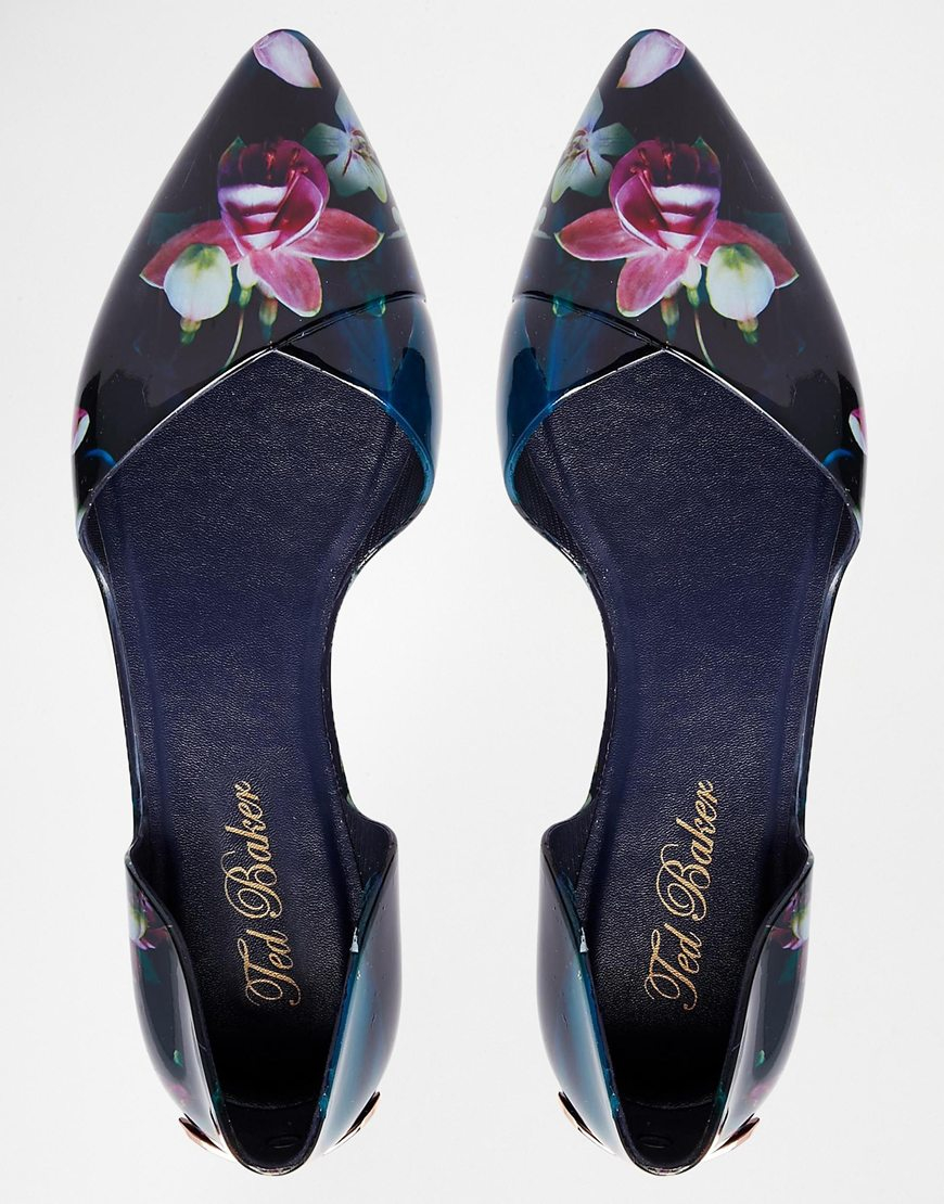 Ted Baker Rikyu Print Jelly Two Part Flat Shoes In Blue Lyst