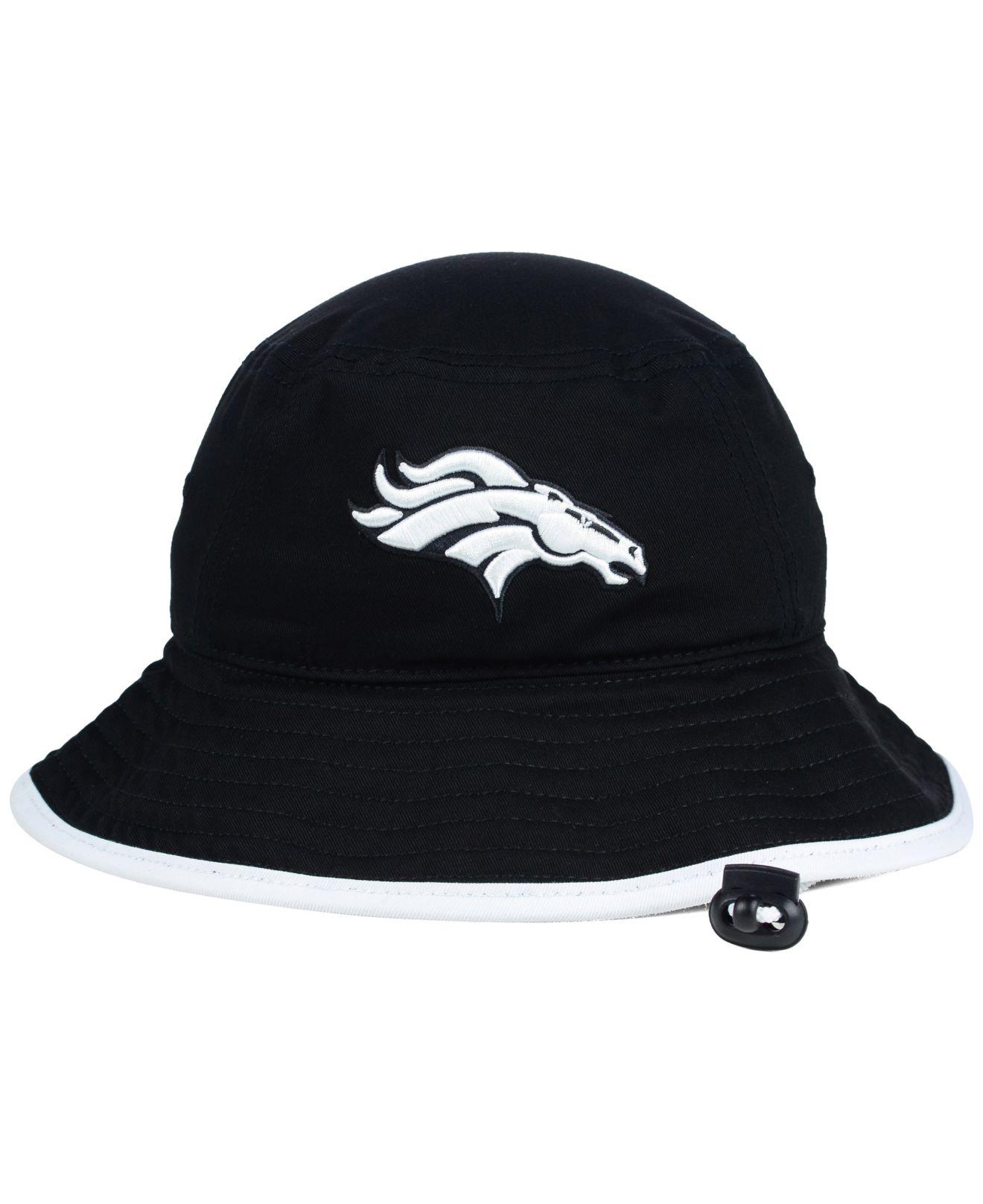 04fe7e6c1 Lyst Ktz Denver Broncos Nfl Black White Bucket Hat In