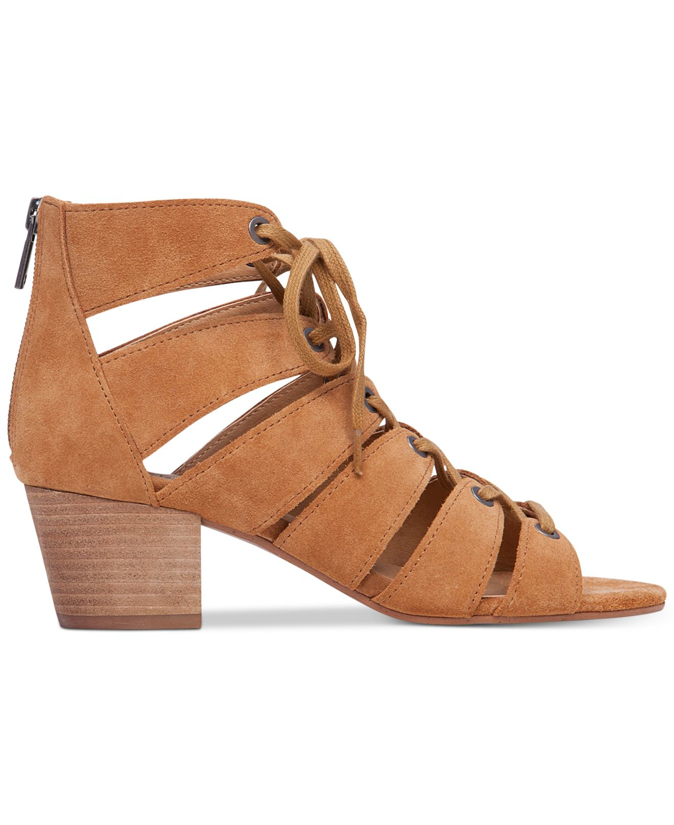 51d8a6a2cc69 Lyst - Lucky Brand Women s Genevie Ghillie Lace Up Sandals in Brown