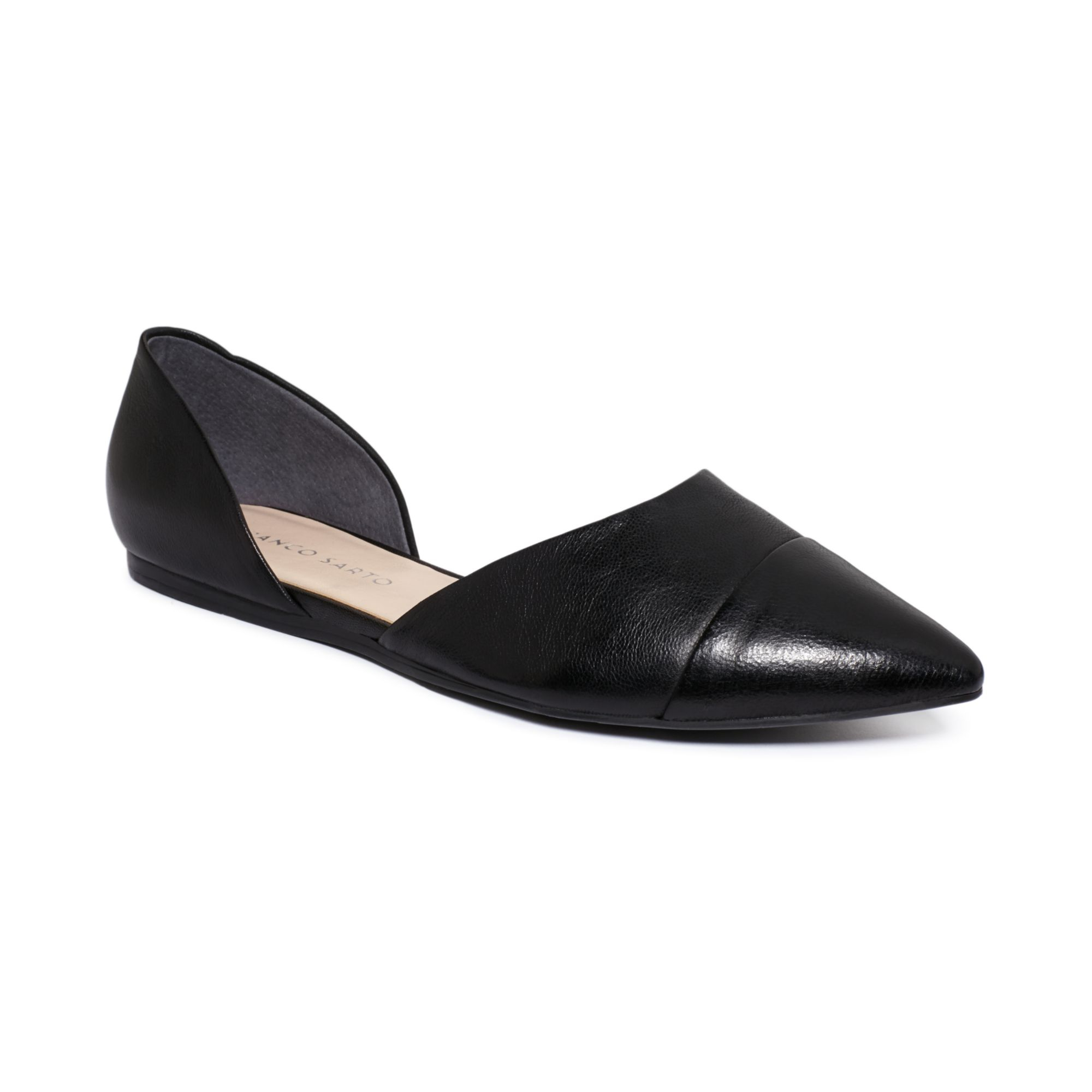 Franco Sarto Hawk Two Piece Pointed Toe Flats In Black Lyst