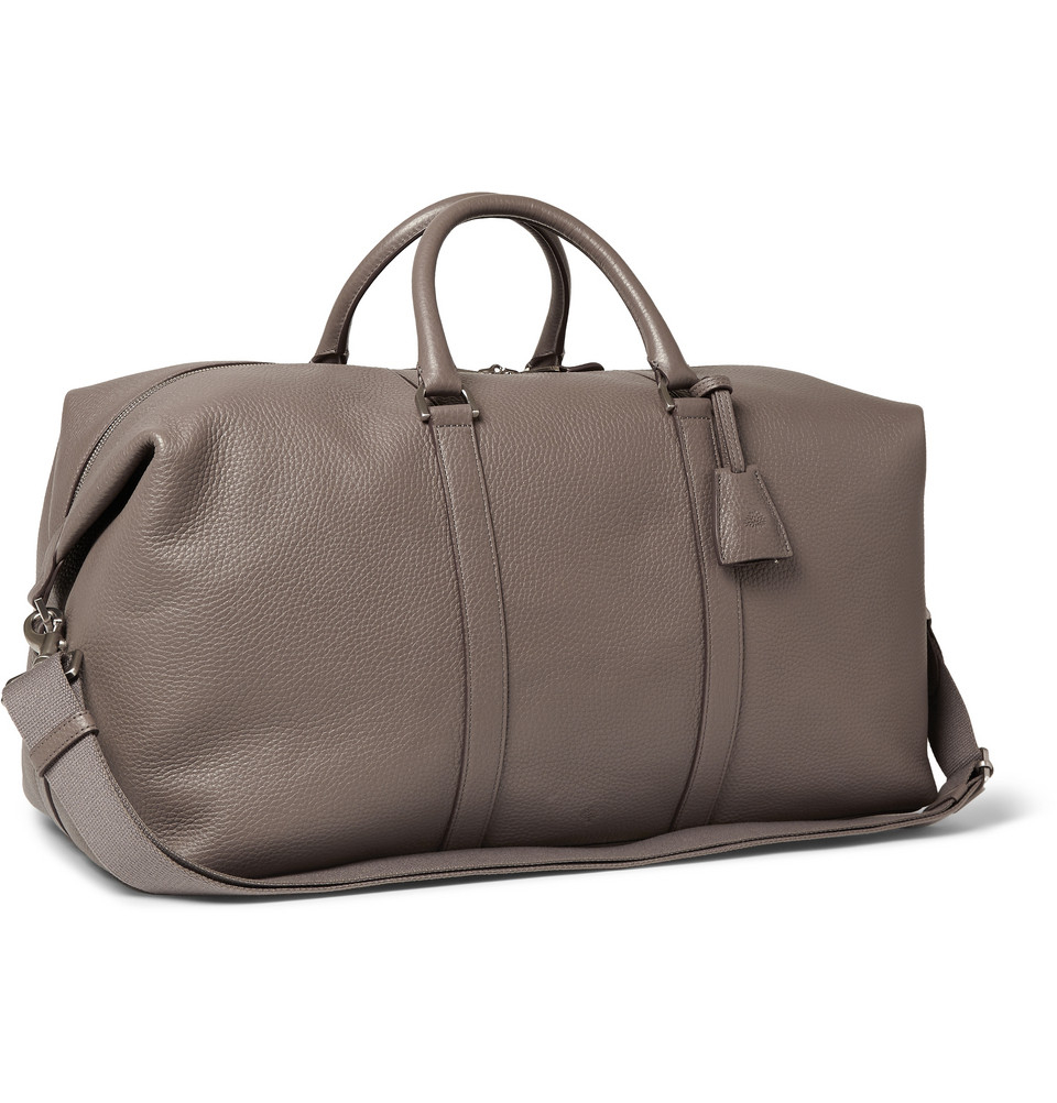 b42a33e1d5b ... spain lyst mulberry leather clipper holdall in gray for men 95bfb a083a  official mulberry extra large clipper scotchgrain holdall weekend bag ...