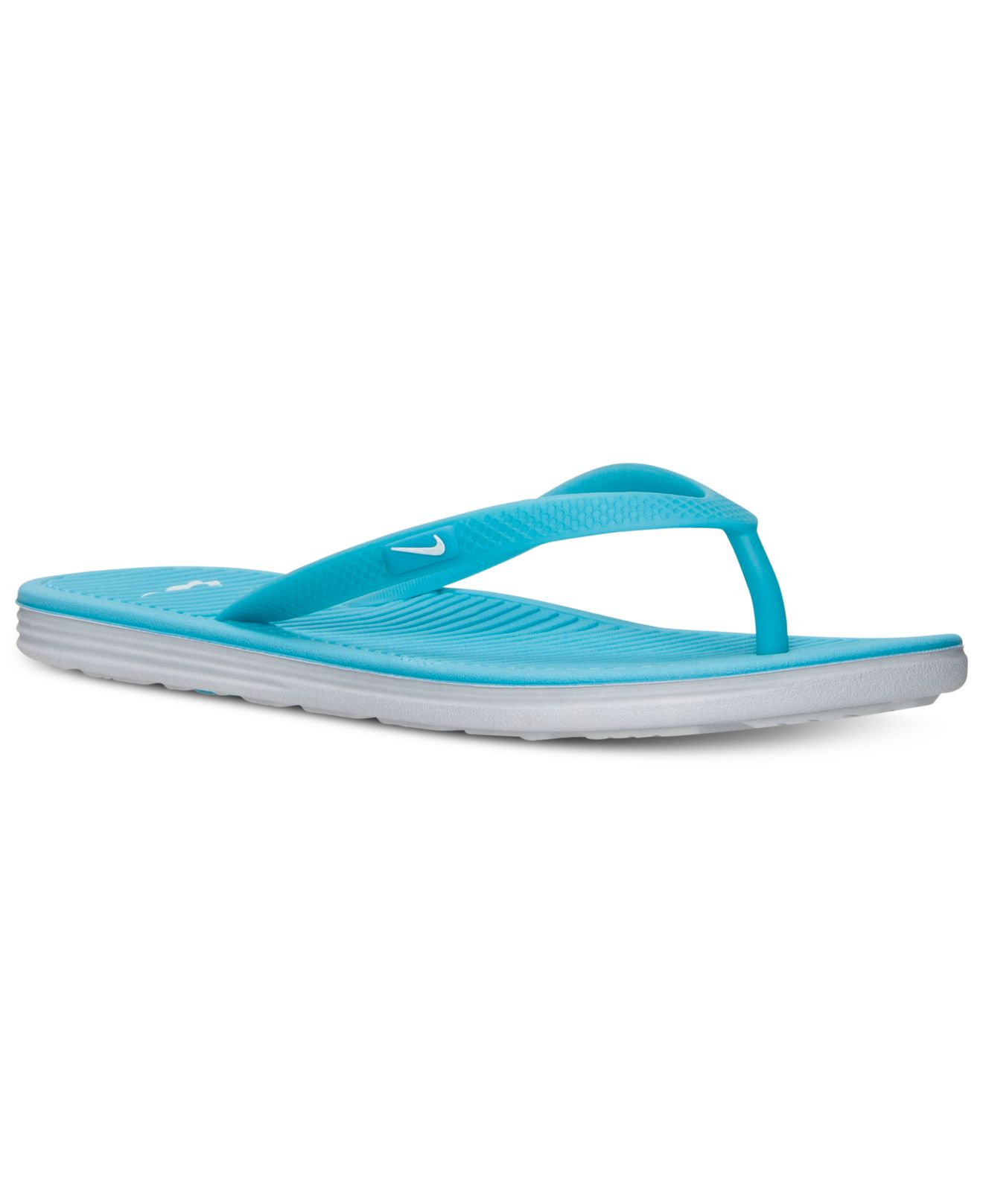 Lyst - Nike Women s Solarsoft Thong Ii Sandals From Finish Line in Blue ae7ed7134