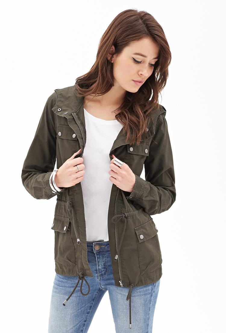 Womens Green Utility Jacket