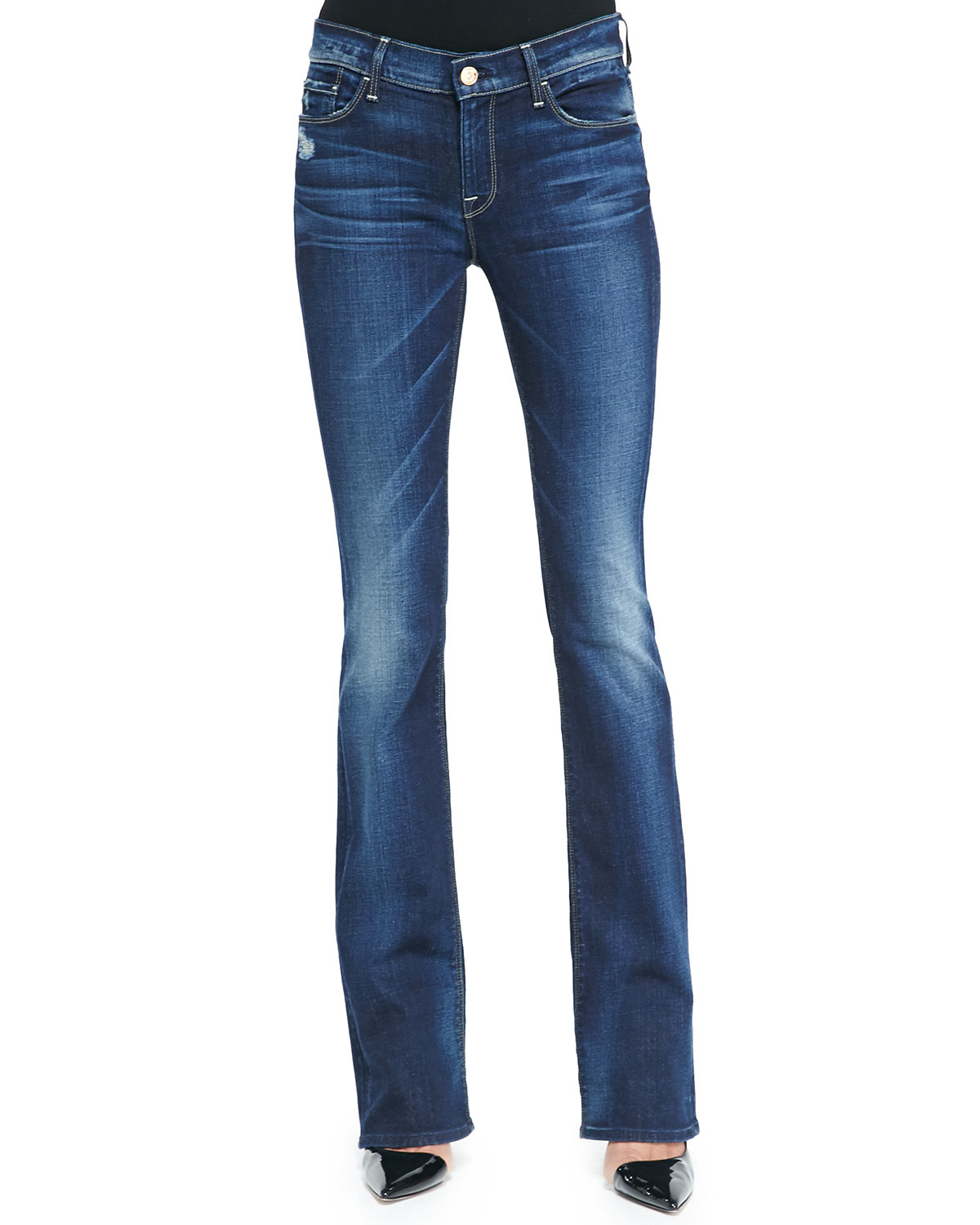 7 for all mankind skinny bootcut monarq jeans in blue lyst. Black Bedroom Furniture Sets. Home Design Ideas