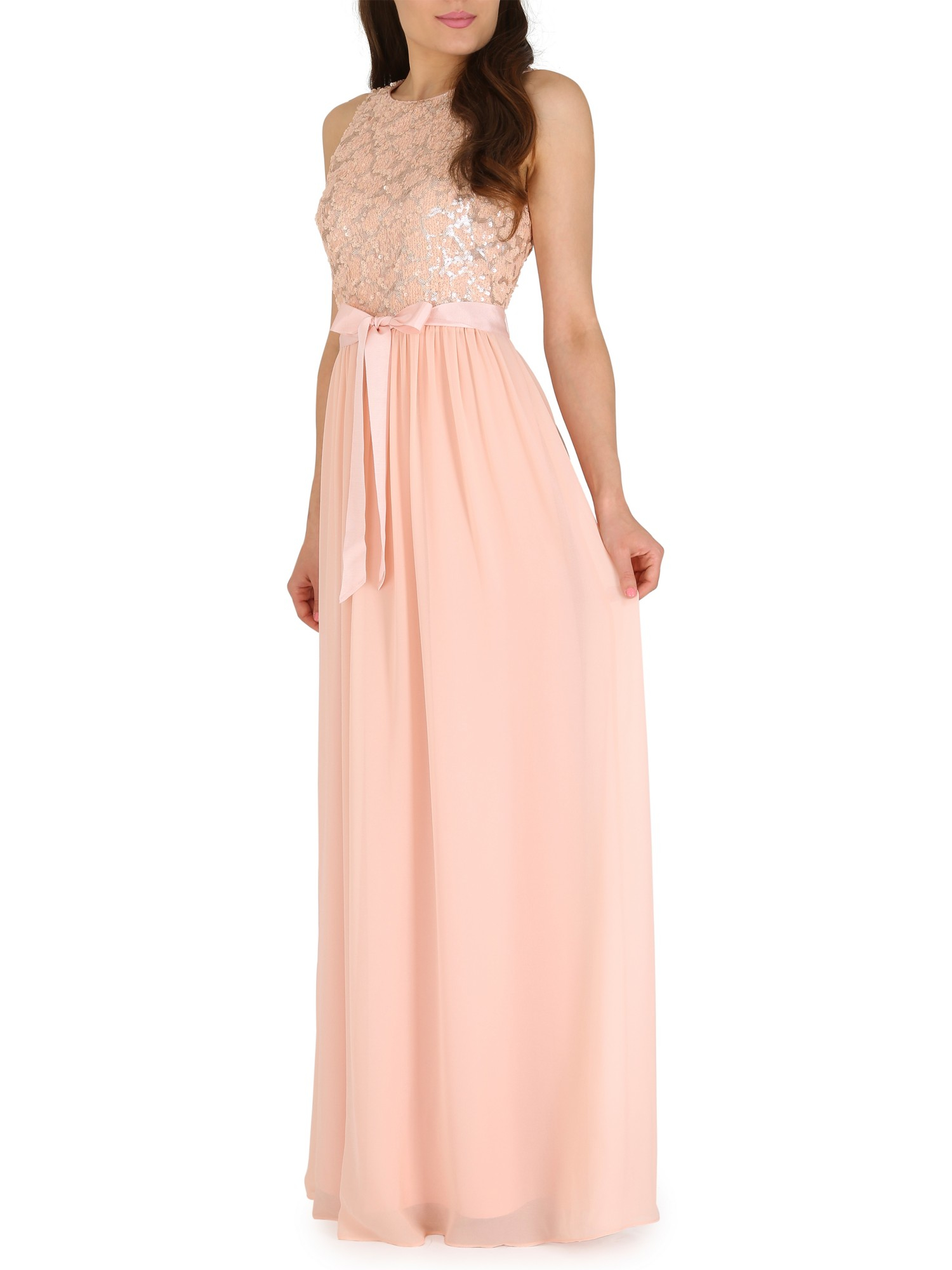 belle by badgley mischka blush sequin bodice maxi dress pink product 0 801292541 normal
