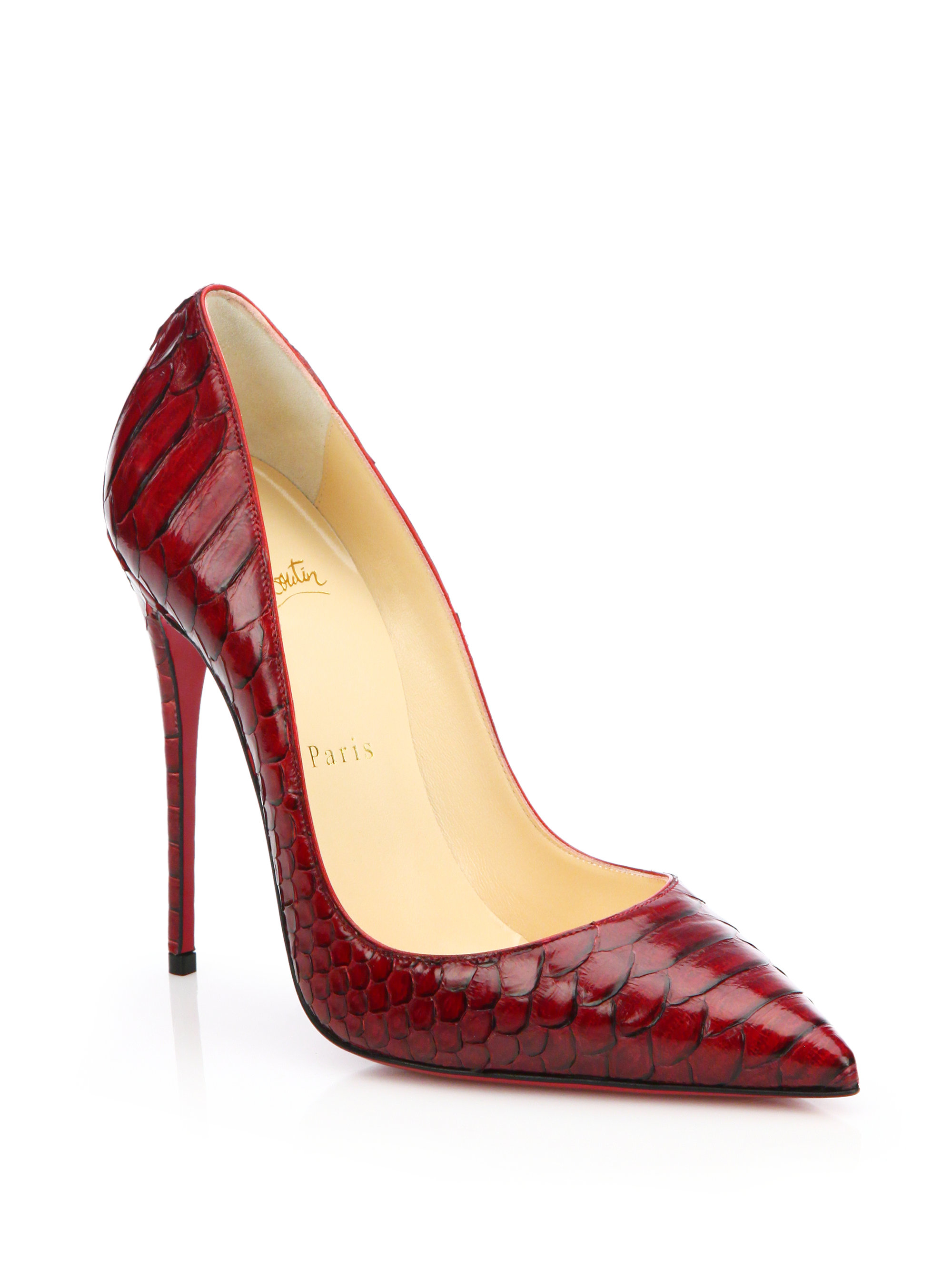 162981ece91e ... discount code for lyst christian louboutin so kate python pumps in red  ccf5c 8b7e4 ...