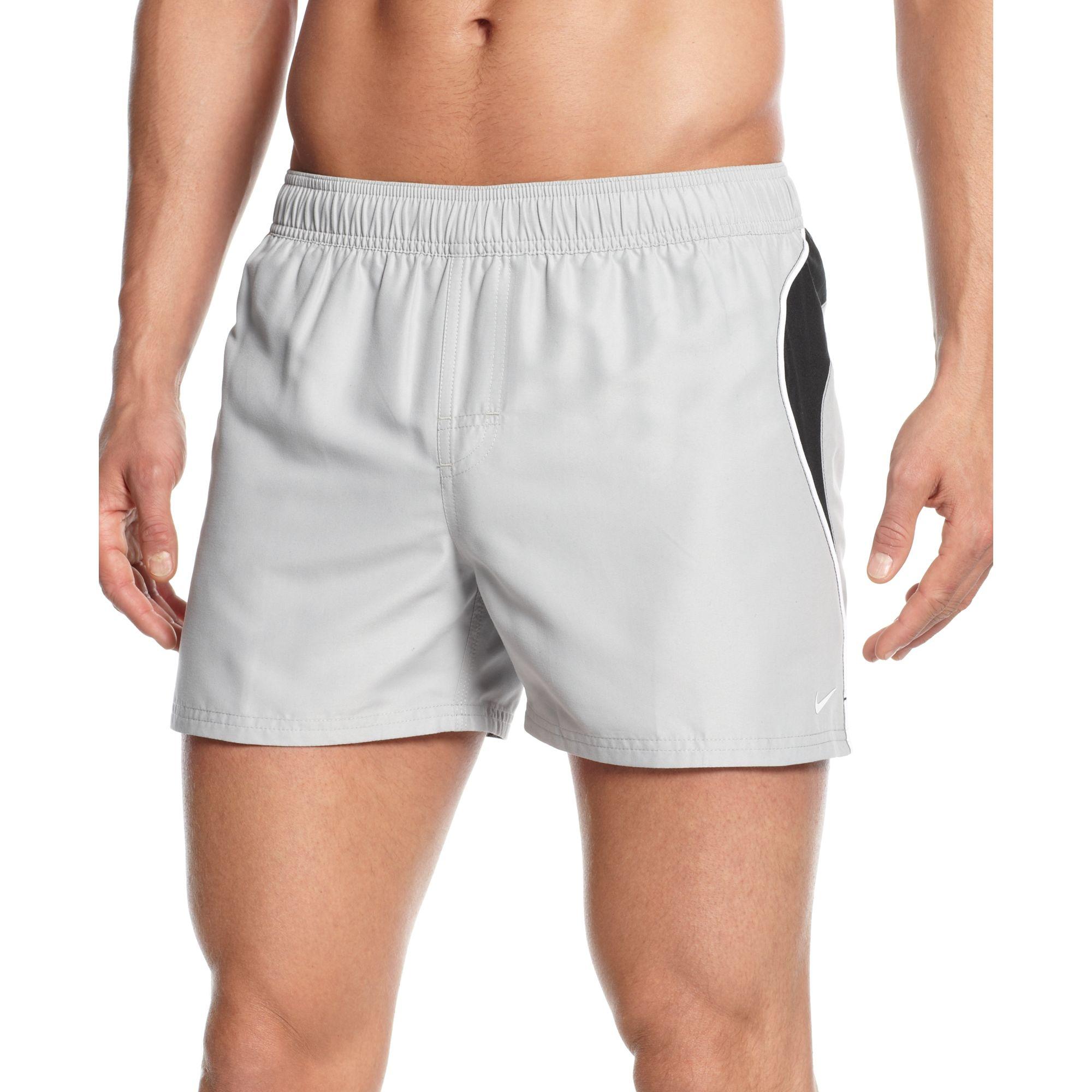 56bcc6b50d Nike Racer Splice 4 Volley Swim Shorts in Gray for Men - Lyst