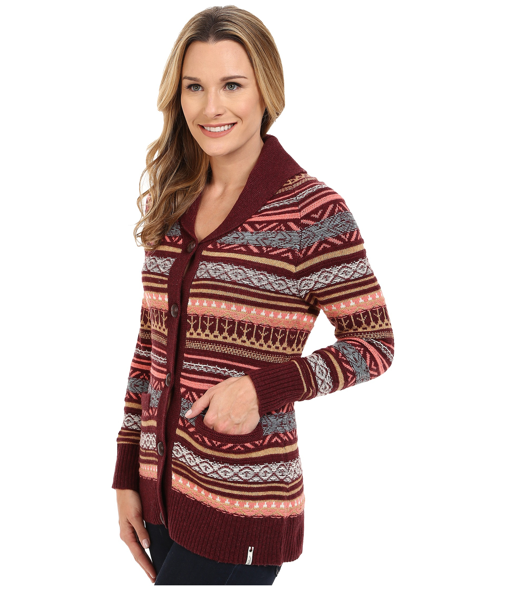 Woolrich Blazing Star Fair Isle Cardigan | Lyst