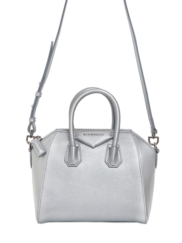 3ad3b45ee3 Lyst - Givenchy Mini Antigona Metallic Leather Bag in Metallic