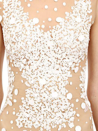165ebfa6af Lyst - Amen Sequin Embellished Tulle Bodysuit in Natural