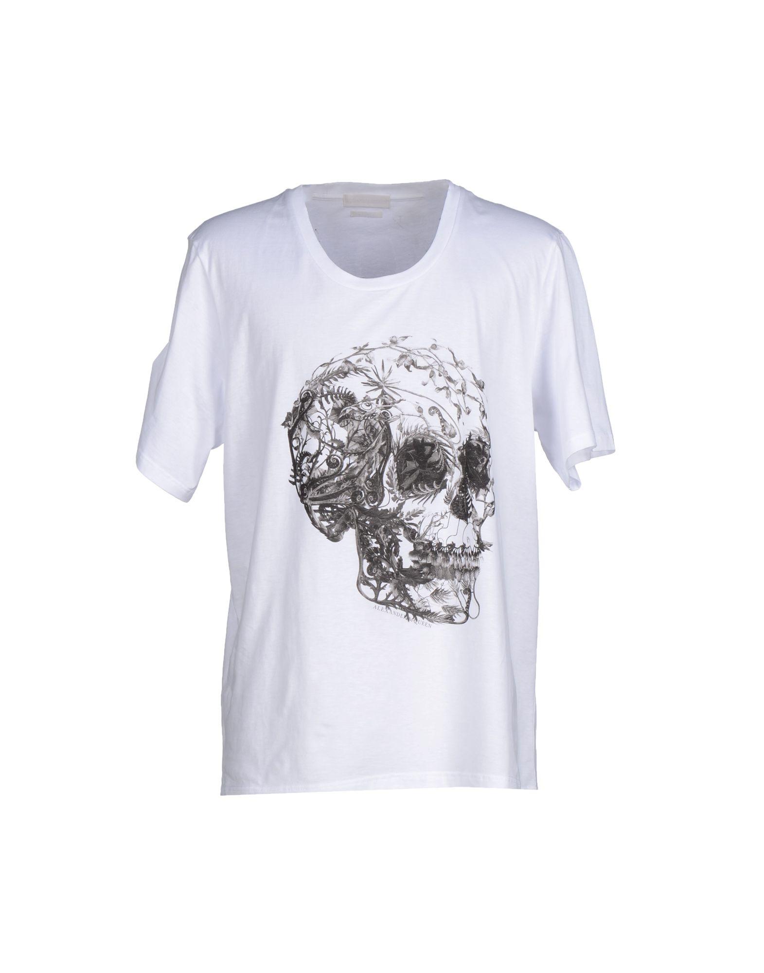 Lyst alexander mcqueen t shirt in white for men for Alexander mcqueen shirt men