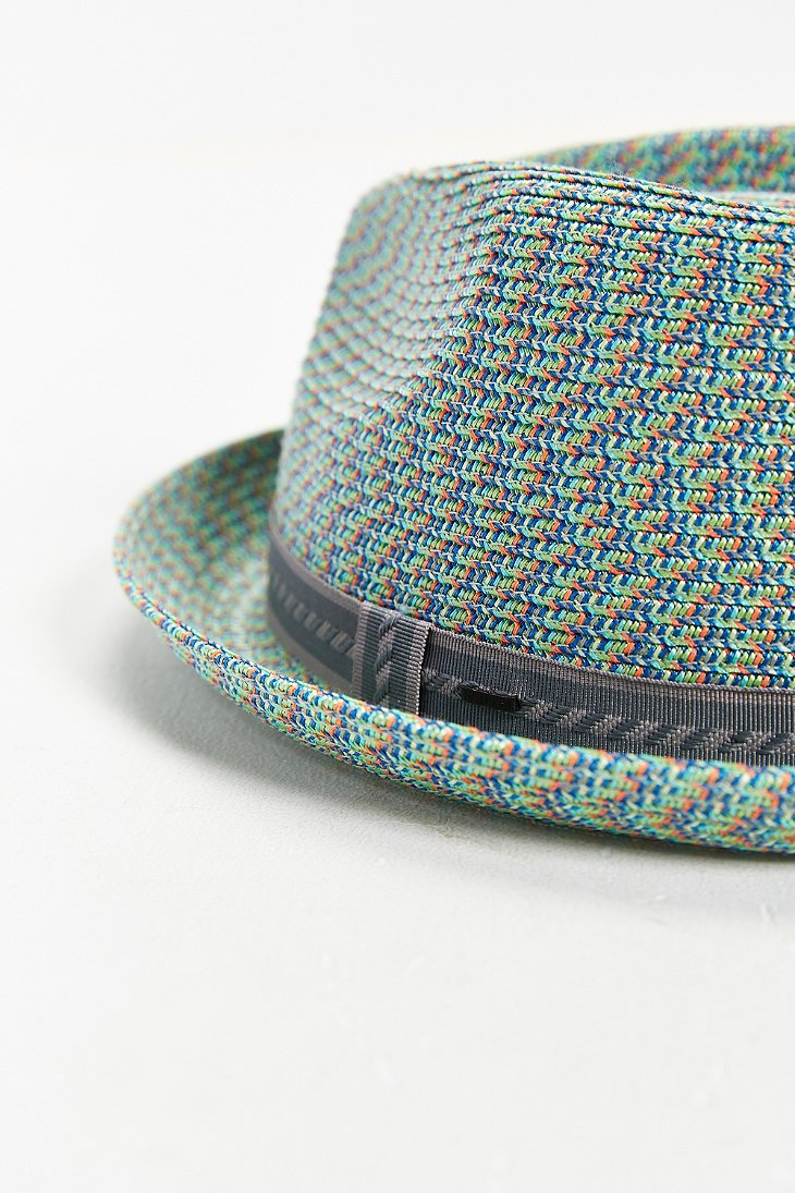 Bailey Of Hollywood Mannes Mint Straw Fedora Hat In Green For Men Lyst