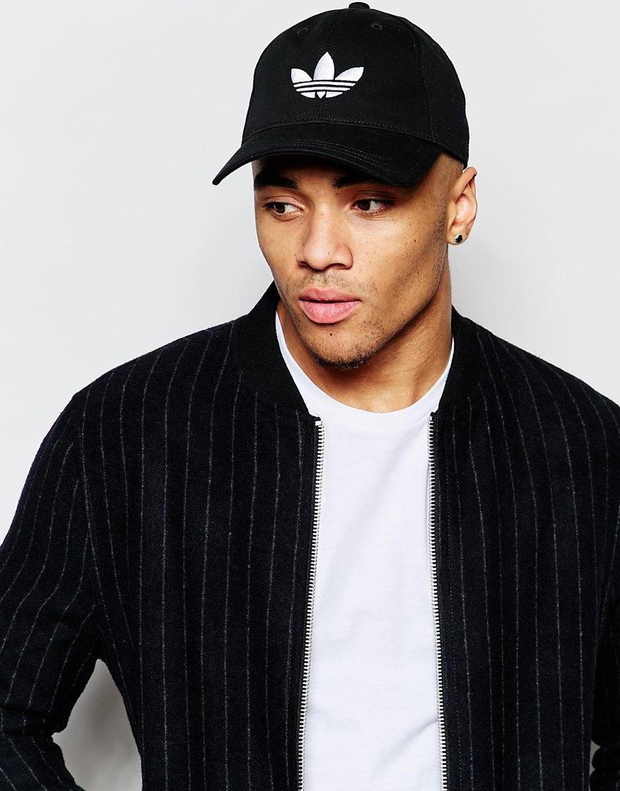 2be816c42c adidas Originals Trefoil Cap In Black in Black for Men - Lyst