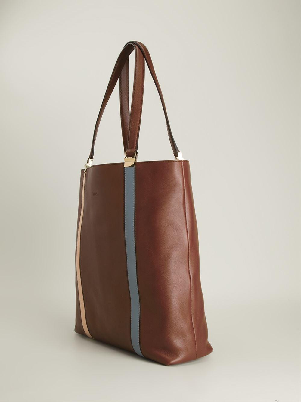 tod s medium shopper bag in brown lyst