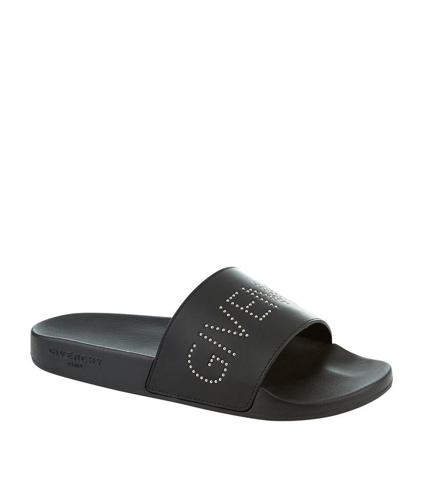 4cec90f47923 Givenchy Studded Logo Slide in Black for Men - Lyst