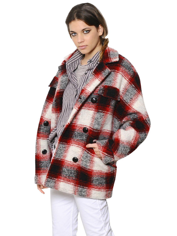 Lyst 201 Toile Isabel Marant Plaid Wool Blend Flannel