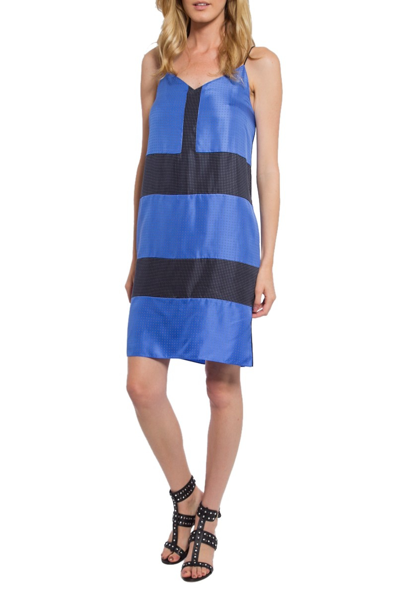 Rag U0026 Bone Sleeveless Polka Dot Shift Dress In Black (CELESTE CO) | Lyst