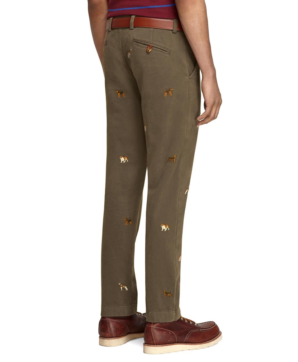 Brooks Brothers Red Fleece Men's Corduroy Pants Camel Tan - Size 38x29