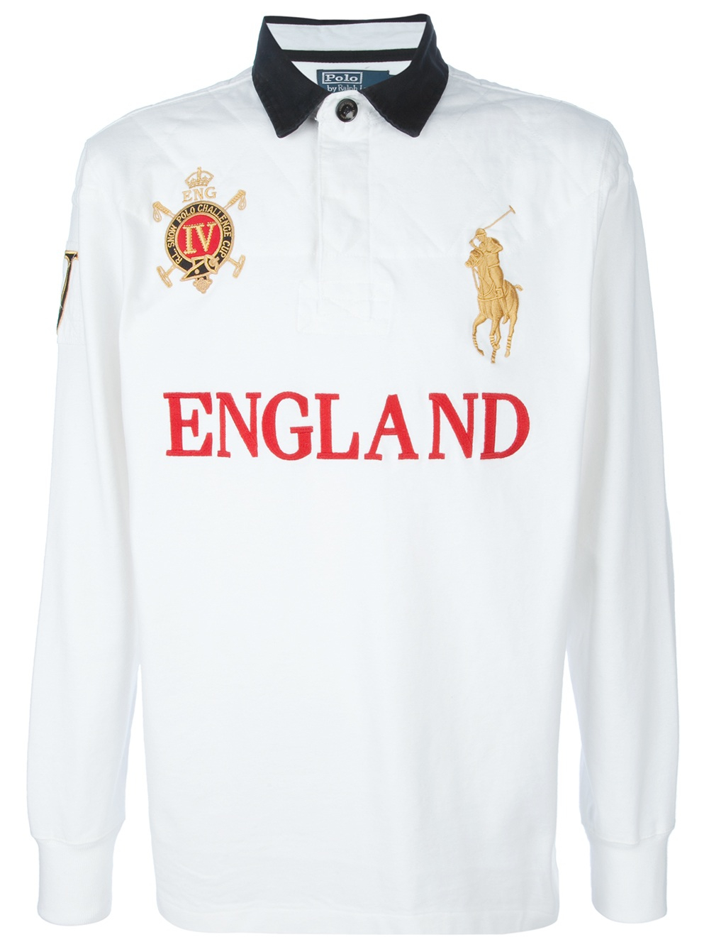 ... lyst ralph lauren blue label rugby shirt in white for men