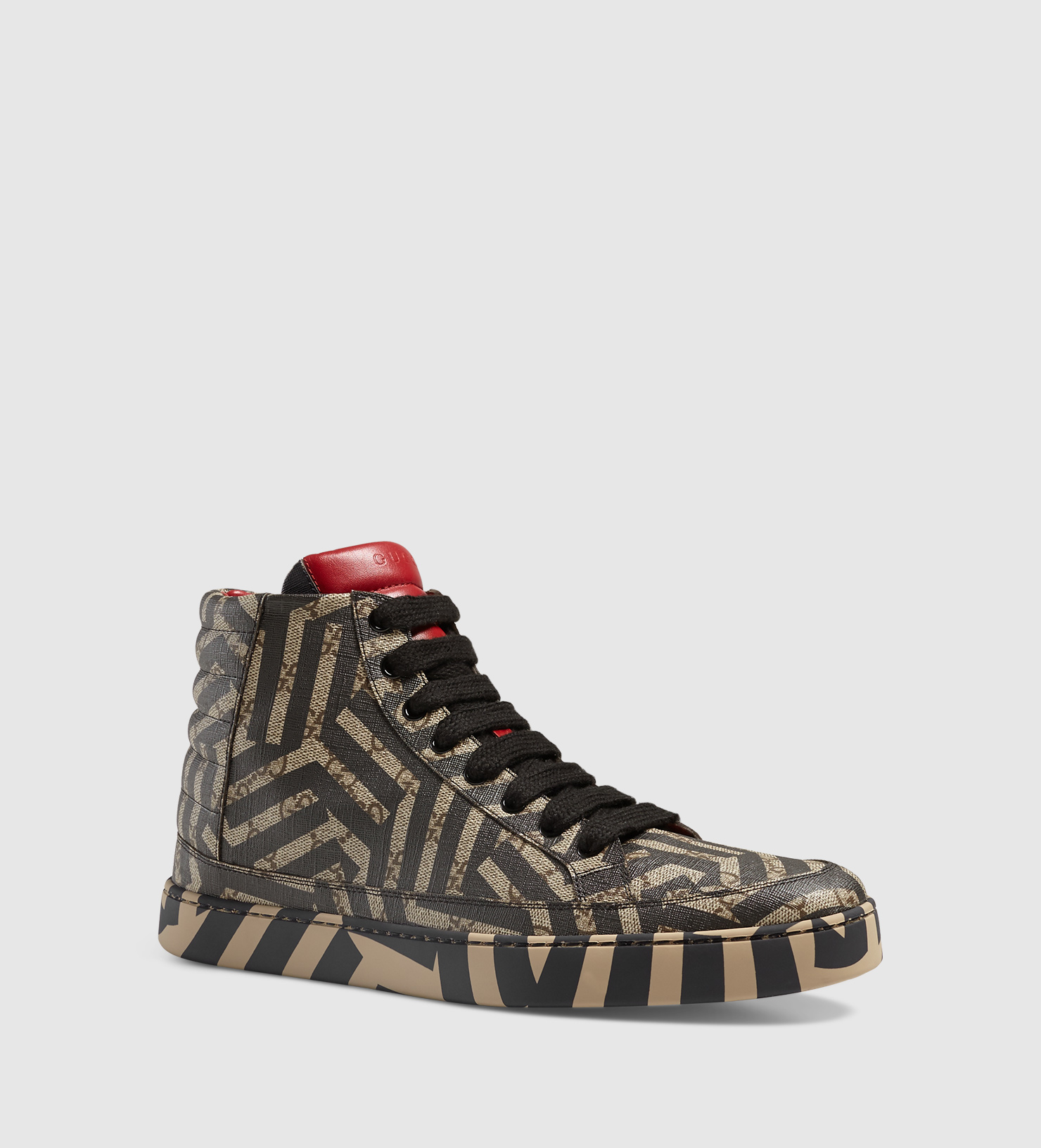 0a2bb4346 Gucci Gg Caleido High-top Sneaker in Brown for Men - Lyst