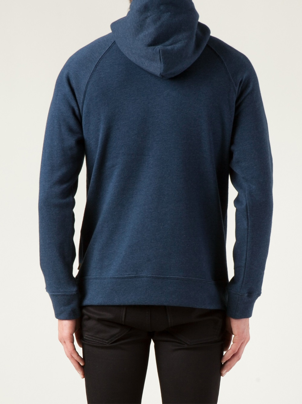 Lyst - Obey Drawstring Hoodie Sweater in Blue for Men