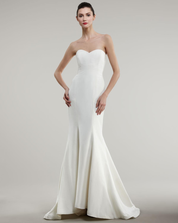 White Trumpet Dress