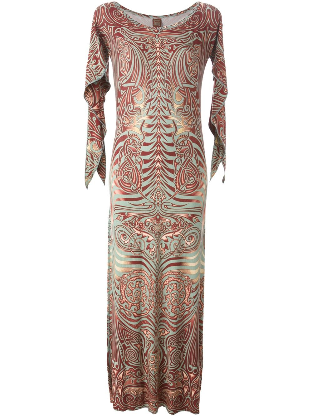 jean paul gaultier 39 cyberbaba 39 dress in multicolor brown. Black Bedroom Furniture Sets. Home Design Ideas