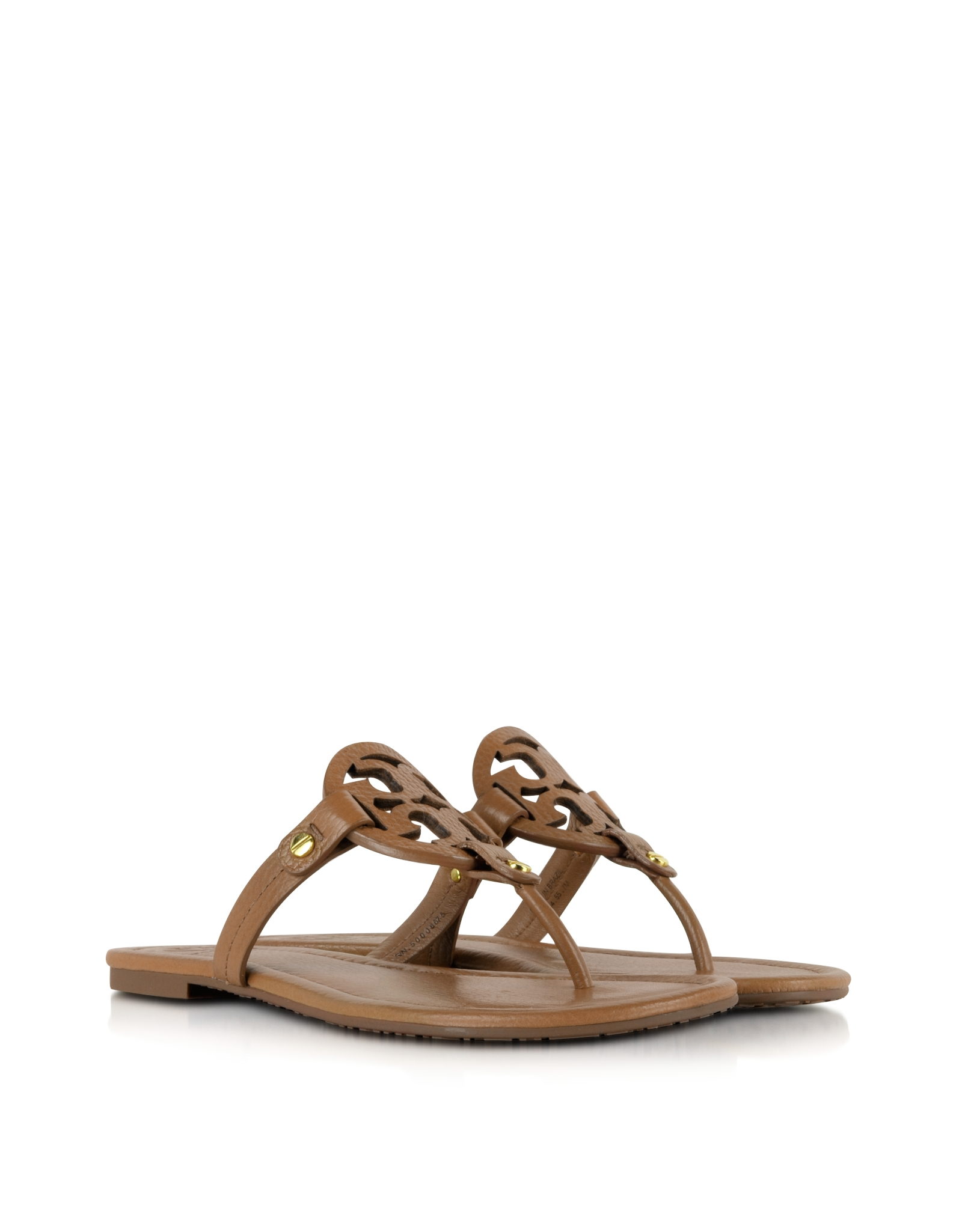 1c980fa5ba77 Tory Burch Miller Royal Tan Leather Sandal in Brown - Lyst