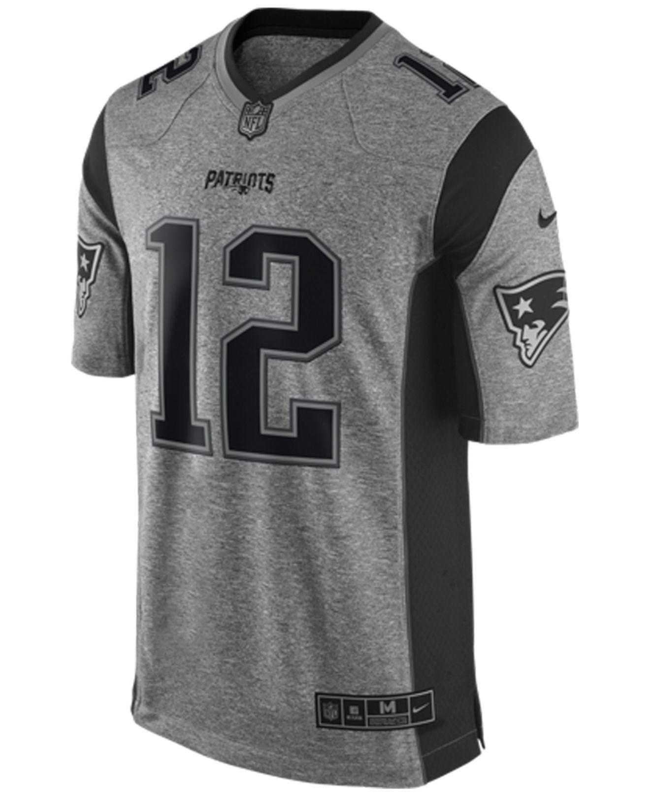 df85b84199a Men s New England Patriots Tom Brady  12 Navy Blue Game Stitched NFL Jersey