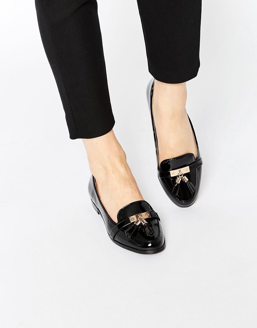 Miss Kg Nikki A Des Chaussures Plates Pompon - Noir 8u7RZ