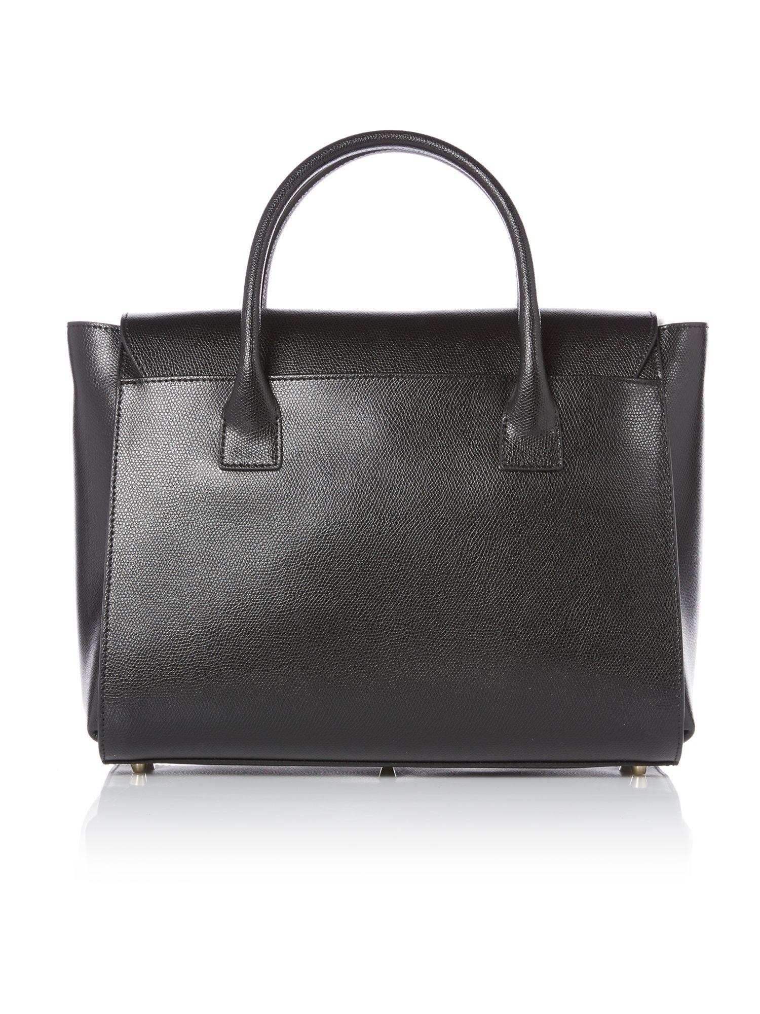 Furla Metropolis Black Satchel Bag in Black | Lyst