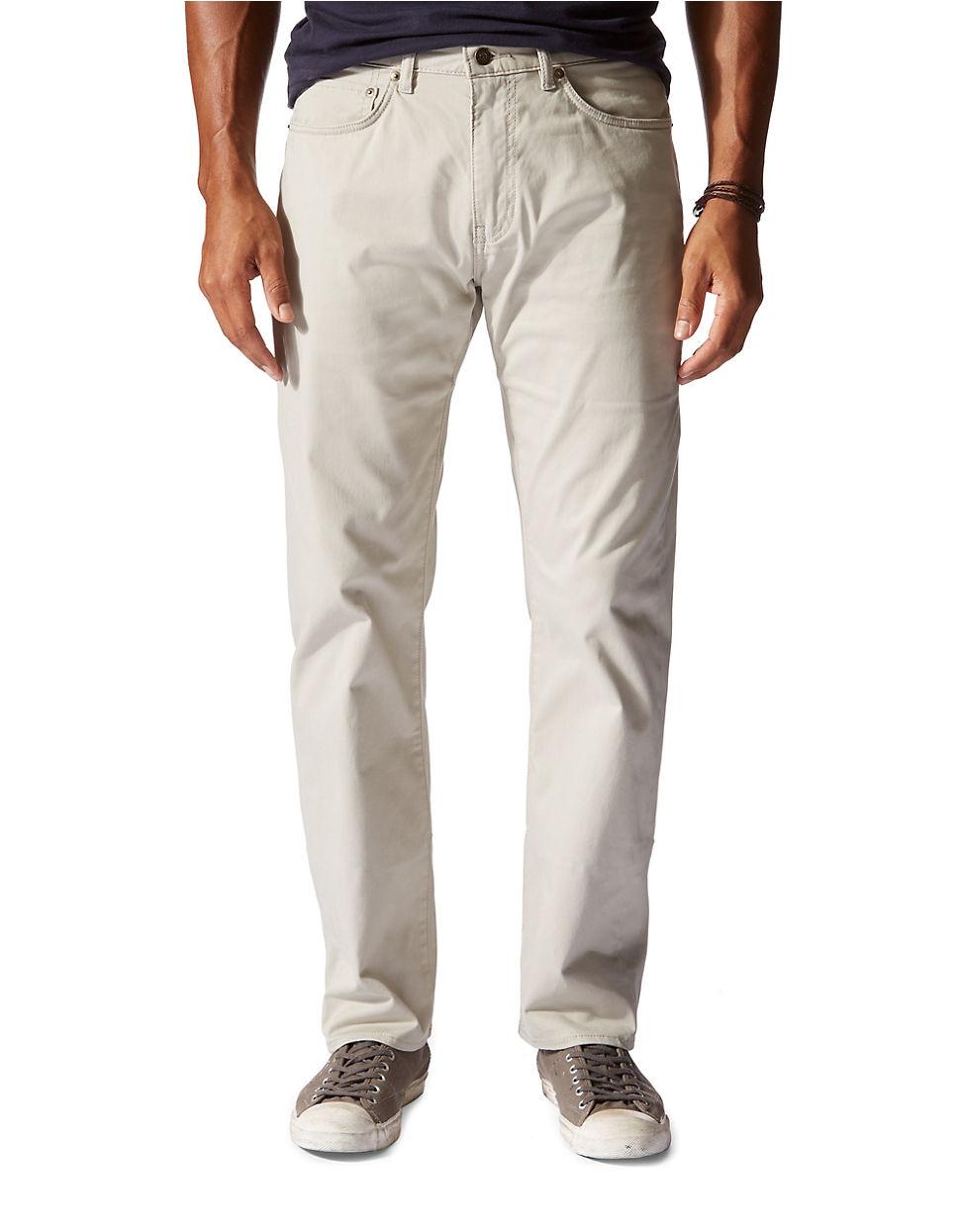 Dockers Jean Cut Straight Fit Pants In Brown For Men Lyst