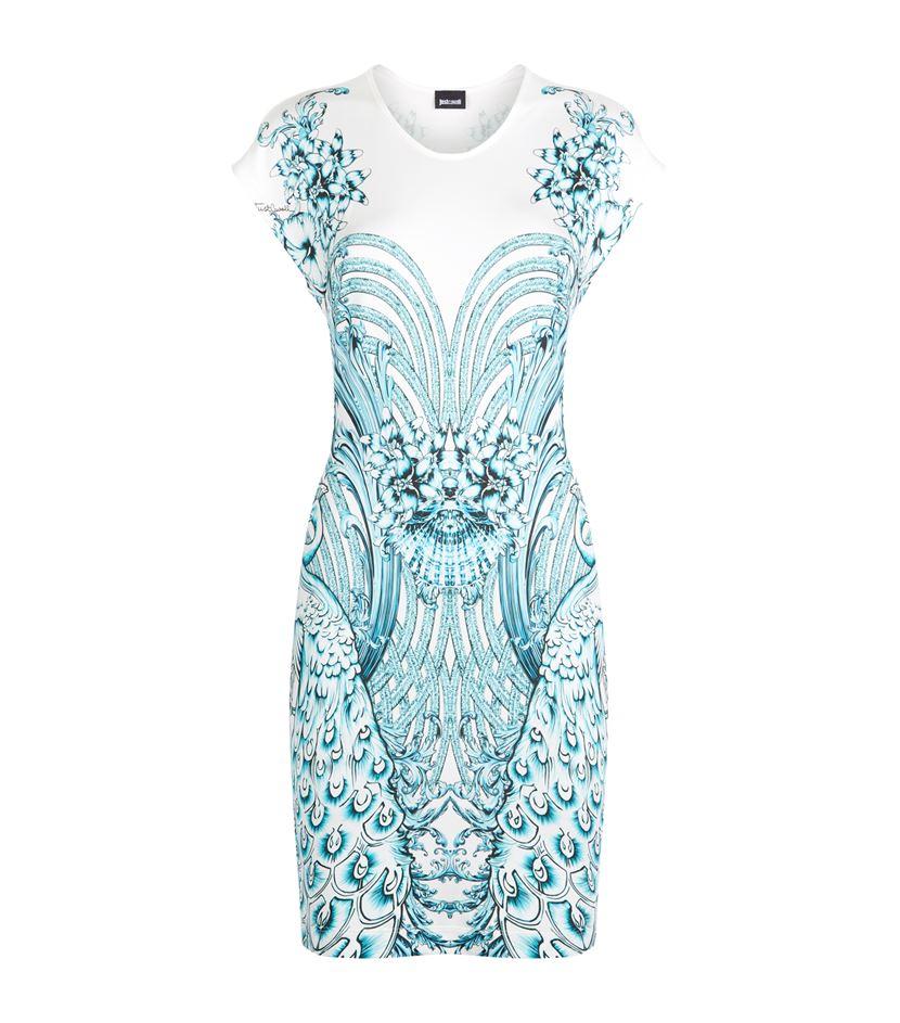 Just Cavalli Woman Layered Beaded Pleated Georgette Mini Dress White Size 42 Just Cavalli KhT423