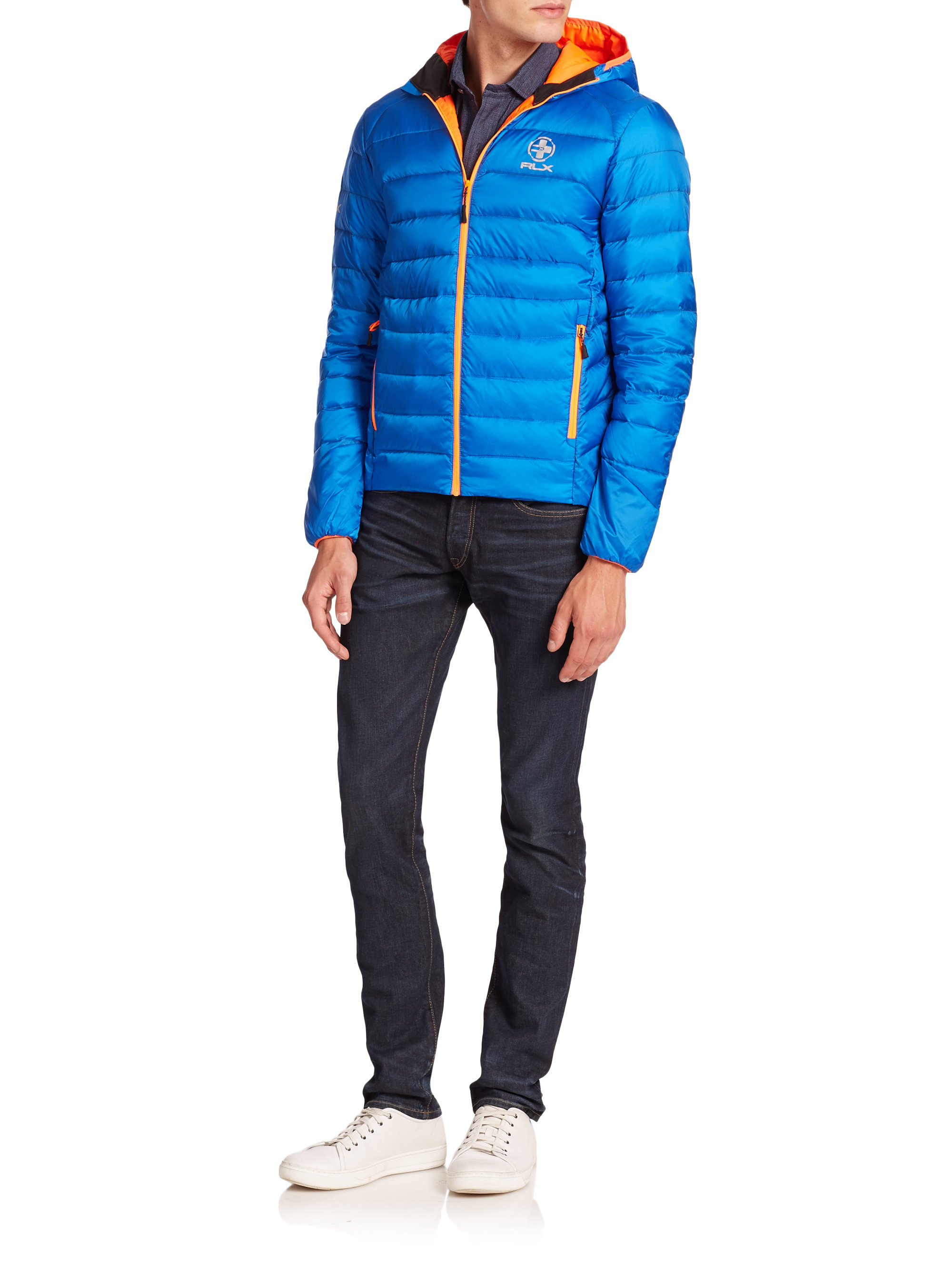 Polo Ralph Lauren Global Explorer Down Jacket In Blue For