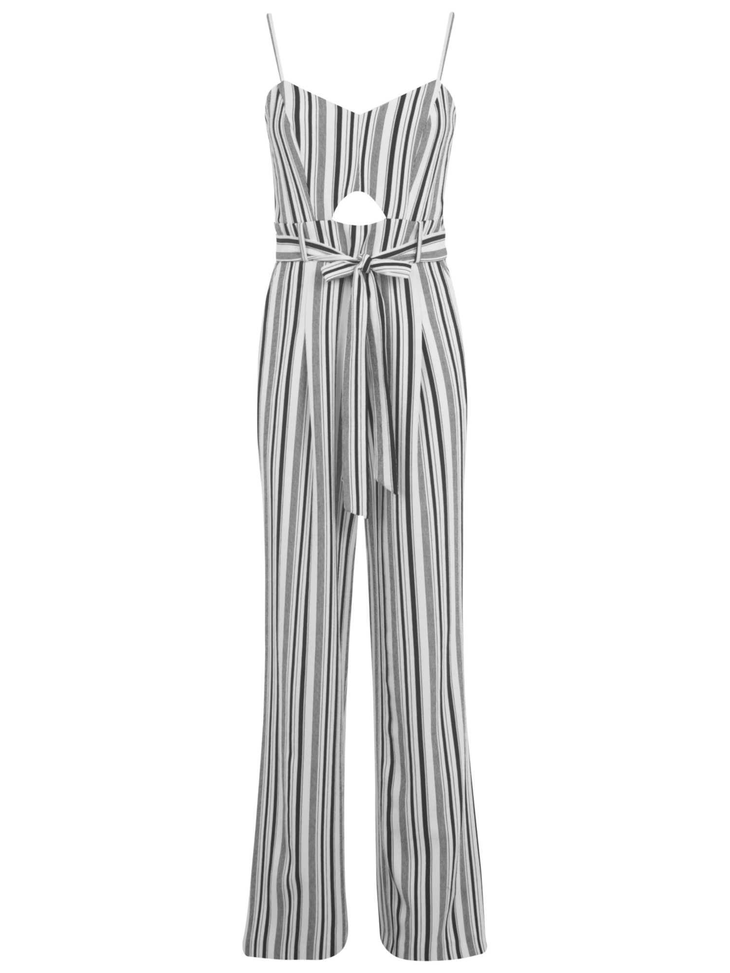 Miss Selfridge Wide Leg Stripe Jumpsuit In Black Lyst