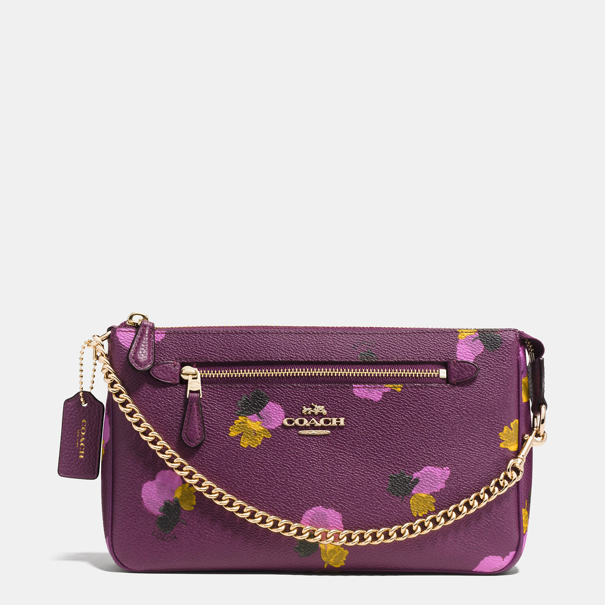 prada floral print canvas clutch