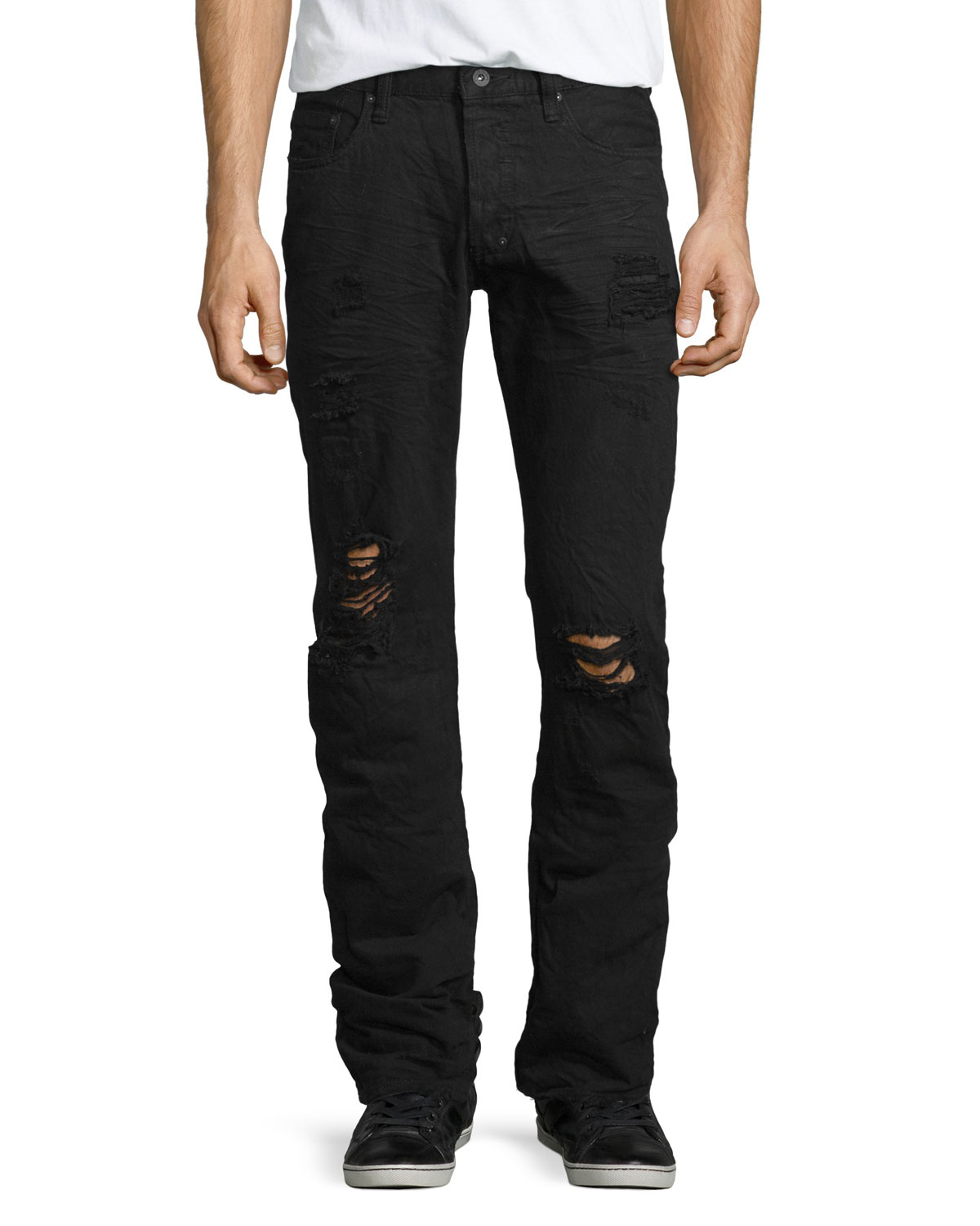 Lyst - Prps Barracuda Distressed Straight-leg Denim Jeans ...