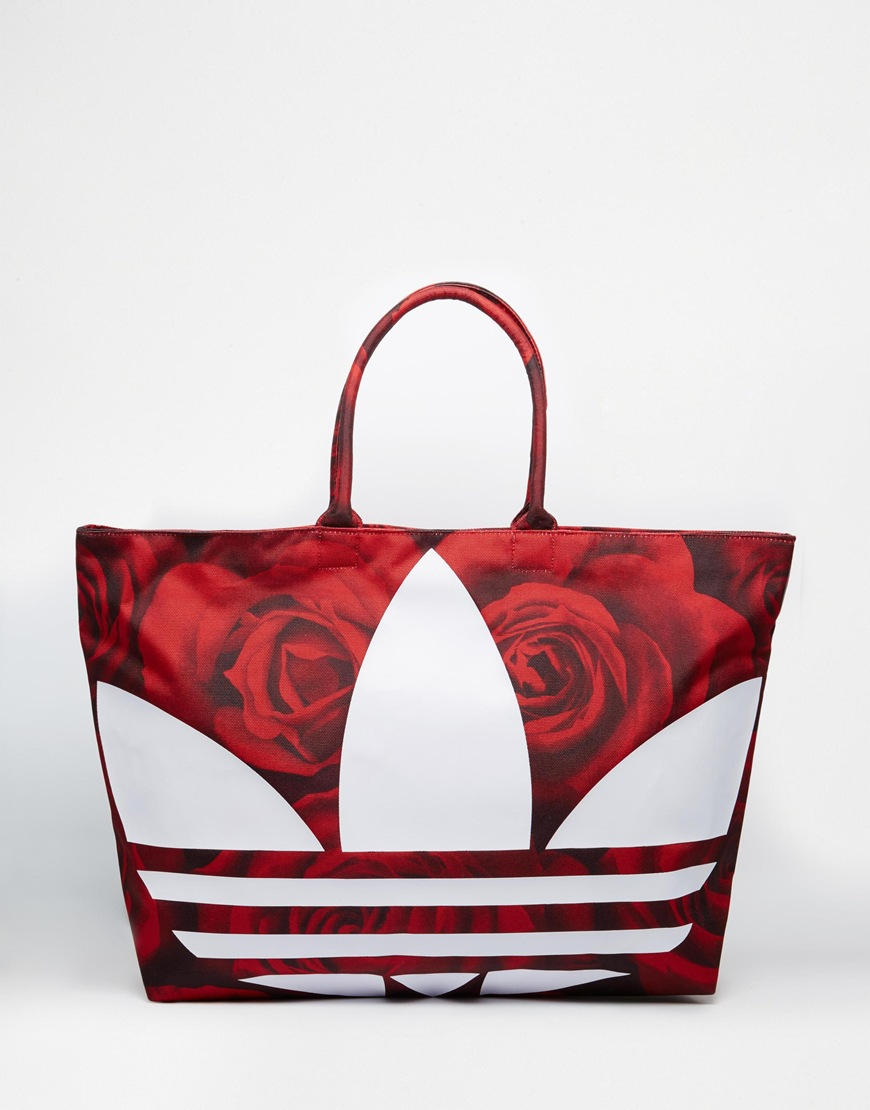 Lyst - adidas Beach Shopper Bag in Red 60da55351cafd