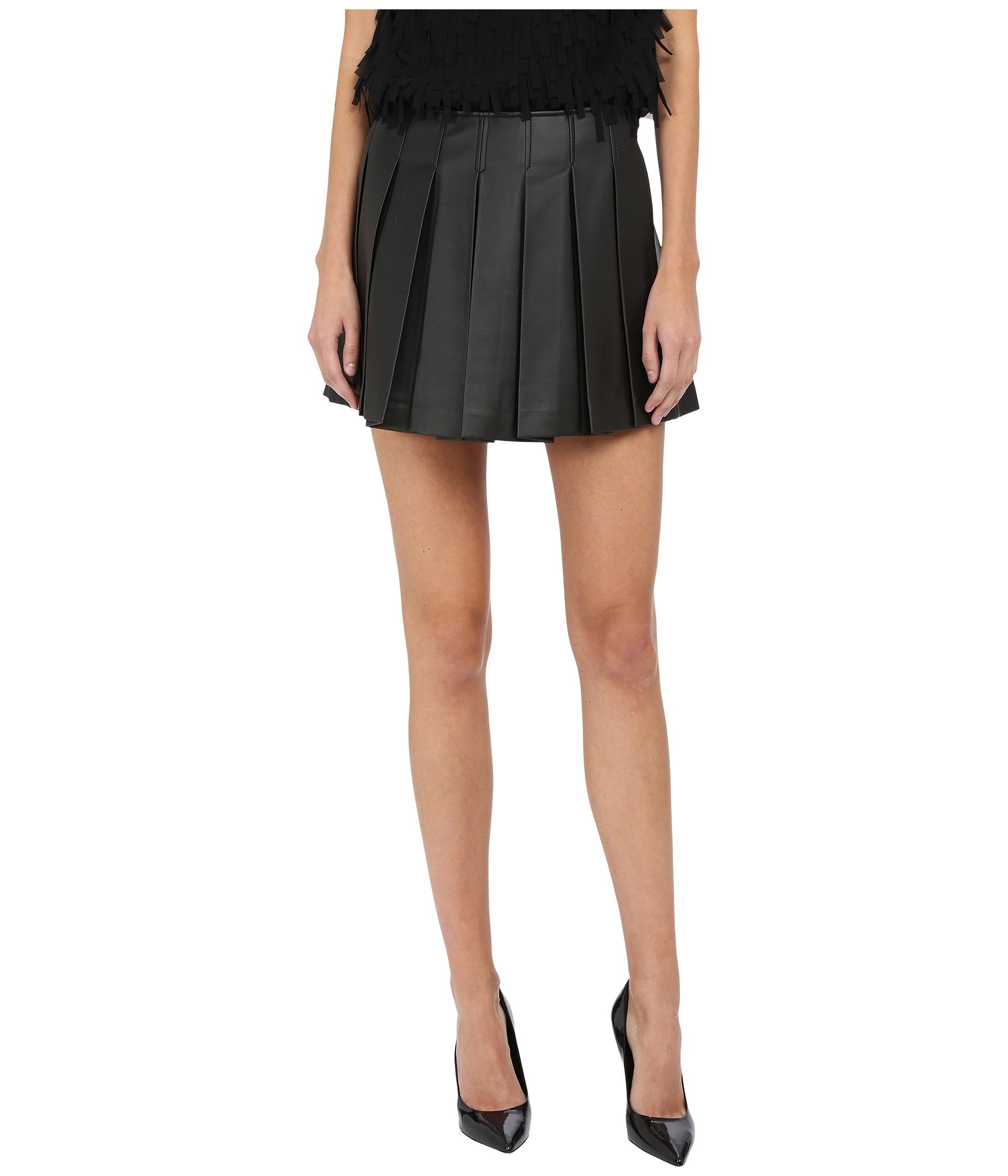 armani leather mini skirt in black lyst