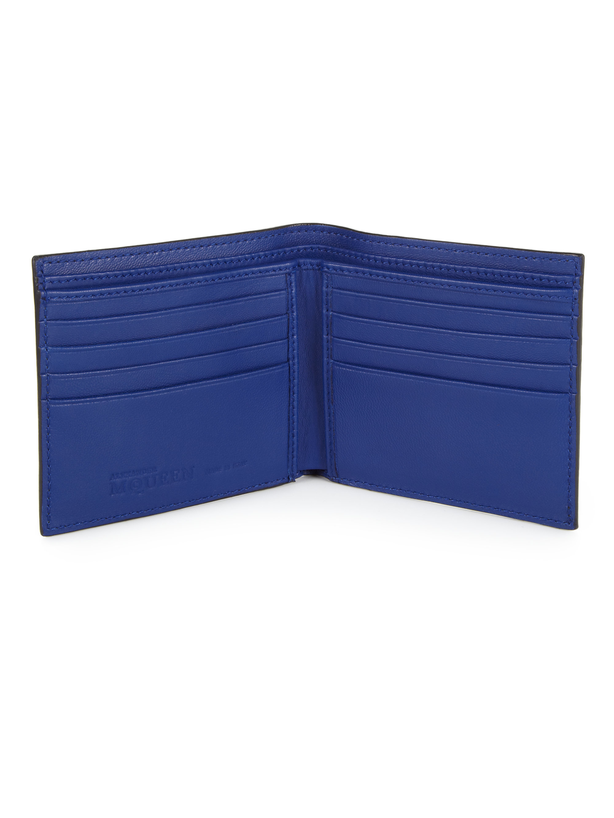 Lyst Alexander Mcqueen Ombre Leather Billfold Wallet In