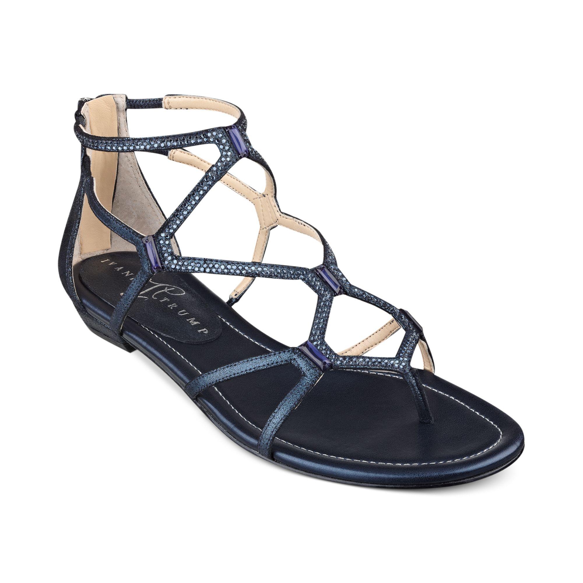 96bb118911b8 Lyst - Ivanka Trump Kalia Flat Sandals in Blue